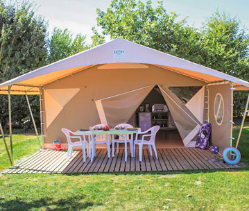 location bungalow camping vendée