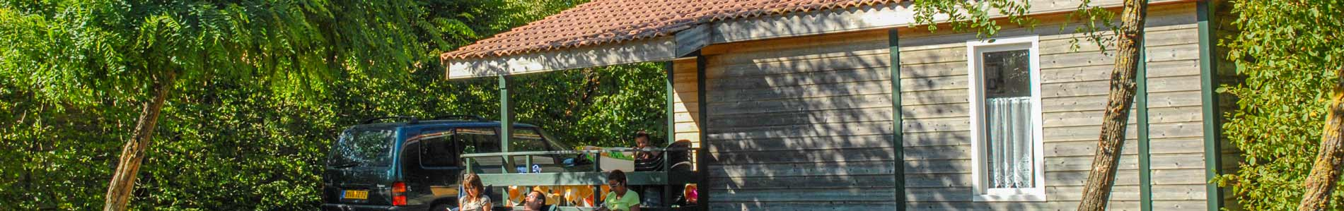 location chalet jardin camping vendée