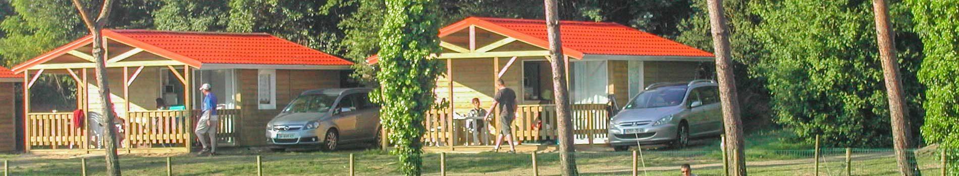 location chalet lac camping vendée